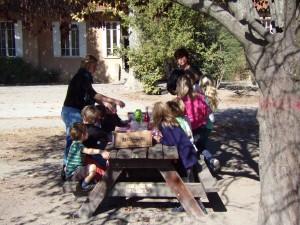 Picknick om de eerste les te vieren!